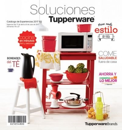 catalogo tupperware experiencias vigente hasta 9 de julio 2017