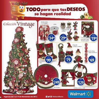 catalogo walmart decoracion navidad 2013 mexico