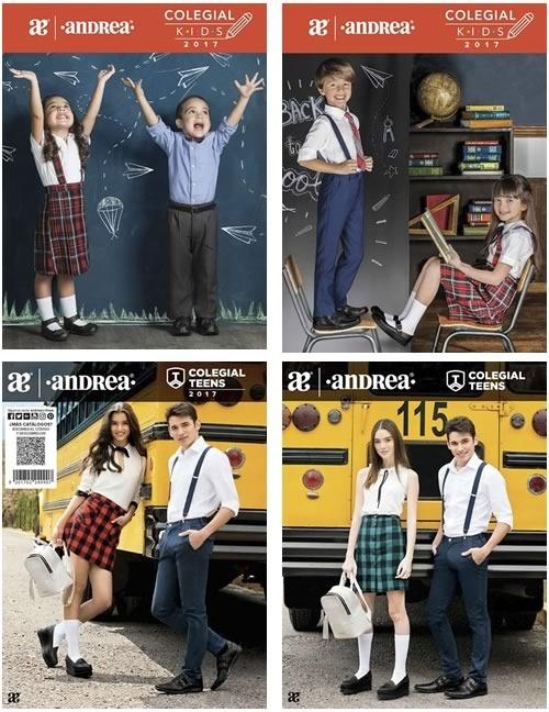 catalogos andrea colegial kids teens 2017
