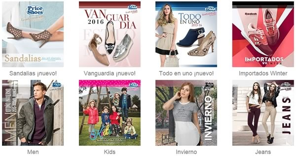 catalogos price shoes 2016