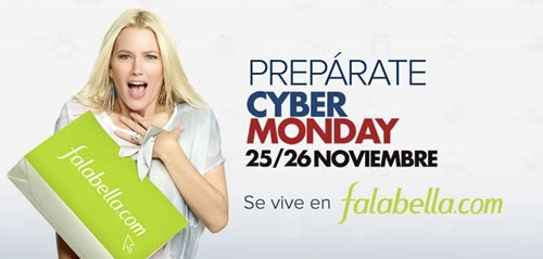 ciber monday 25 26 noviembre falabella chile