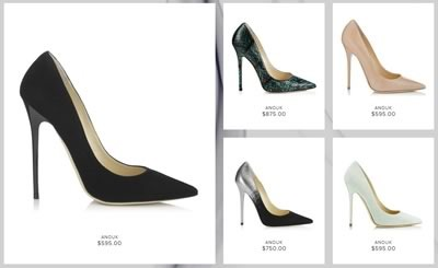 coleccion iconic pumps de jimmy choo