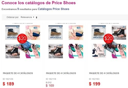 comprar catalogos fisicos price shoes