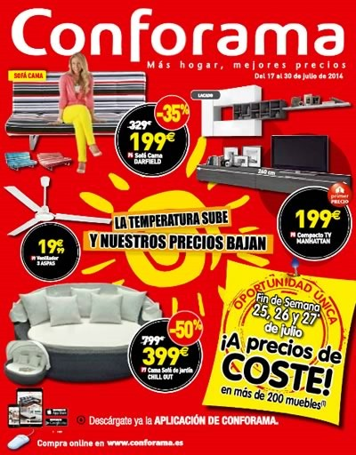 Conforama cat logo de ofertas de julio 2014 - Catalogo conforama madrid ...