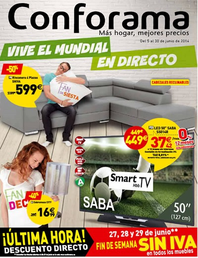 conforama folleto ofertas junio 2014