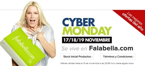 cyber monday 2014 falabella chile