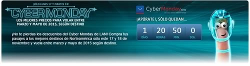 cyber monday chile 2014 en lan