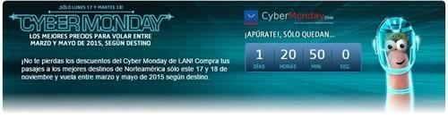 cyber monday chile 2014 en lan