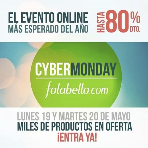cybermonday falabella colombia mayo 2014