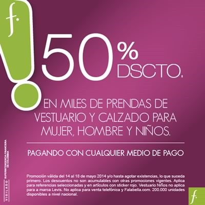 dias fantasticos falabella colombia mayo 2014