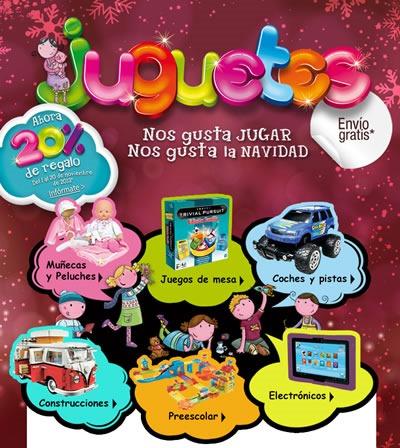 el corte ingles 20 por ciento descuento juguetes navidad 2013 espana
