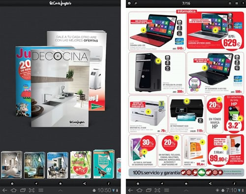 el corte ingles app de catalogos para movil o tablet