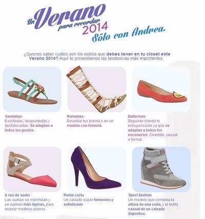 estilos calzado andrea verano 2014