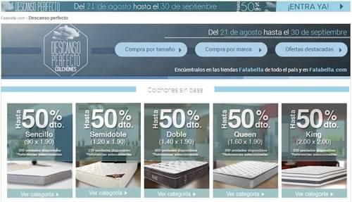 falabella colombia ofertas colchones septiembre 2014