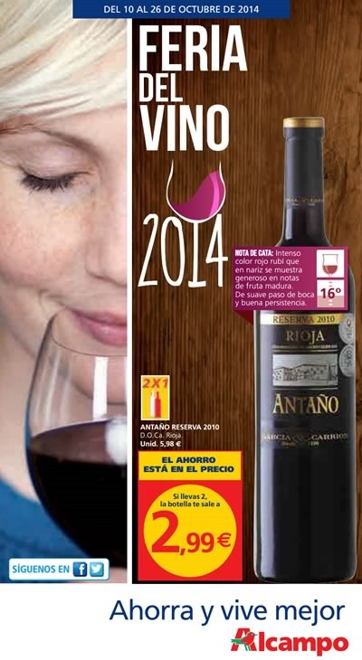 feria del vino alcampo 10 a 26 octubre 2014