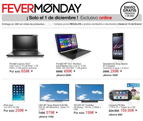 fever monday 2014 el corte ingles
