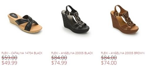 flexi shoes semi annual sale 2014 - ofertas