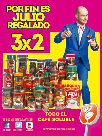 folleto julio regalado 2014 del 25 al 31 en la comer