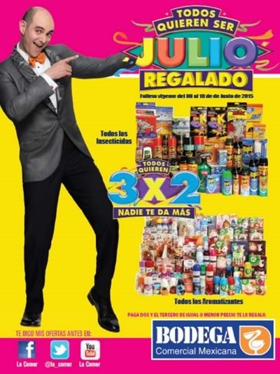 folleto julio regalado 2015 bodega 9 al 18 junio