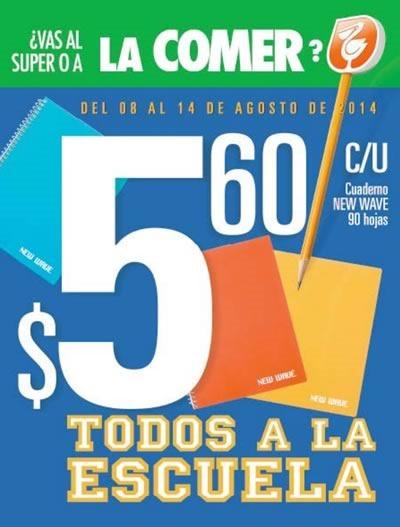 folleto la comer vuelta al cole 8 al 14 agosto 2014