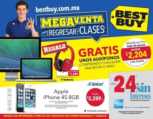 folleto mega venta regreso a clases best buy agosto 2014