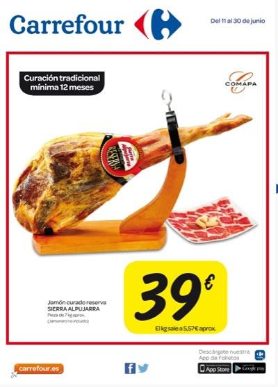 folleto ofertas carrefour charcuteria junio 2014 espana