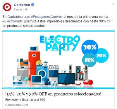garbarino electro party septiembre 2015