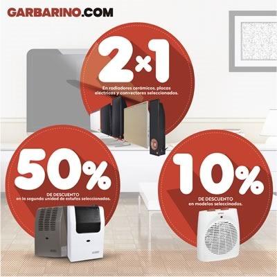 garbarino ofertas calefactores julio 2014