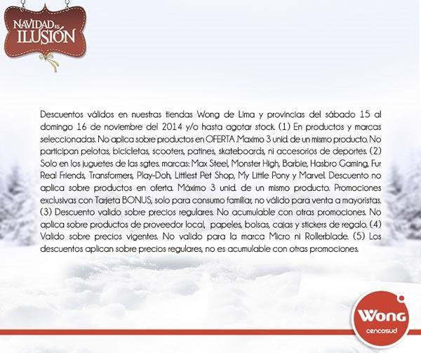 gran cierra puertas navidad wong 15 y 16 noviembre - condiciones