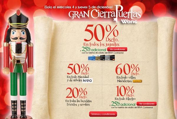 gran cierra puertas wong 4 5 diciembre 2013