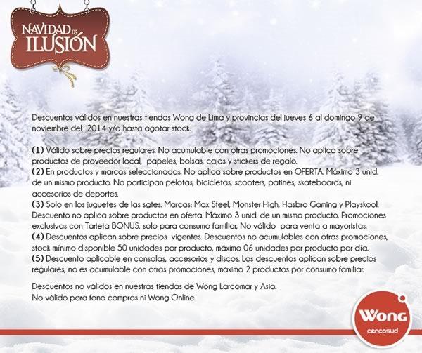 gran venta navidena de wong noviembre 2014 - condiciones