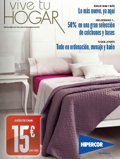 hipercor hogar catalogo enero febrero 2014