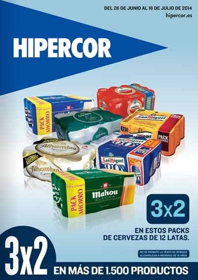 hipercor ofertas 3x2 en mas de 1500 productos 16 de julio 2014