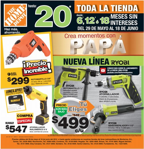 home depot mexico catalogo ofertas 18 junio 2014