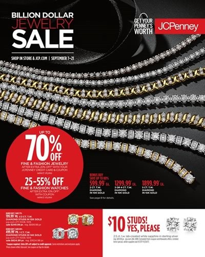 jcpenney billion dollar jewelry sale sept 2017