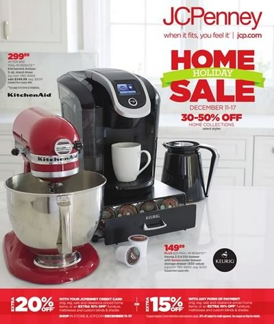jcpenney catalogo ofertas home holiday sale diciembre 2014