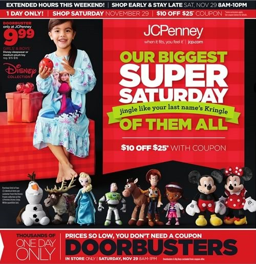 jcpenney ofertas super saturday 29 nov 2014 usa