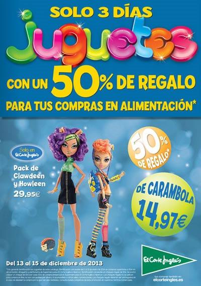 juguetes a mitad de precio en el corte ingles diciembre 2013