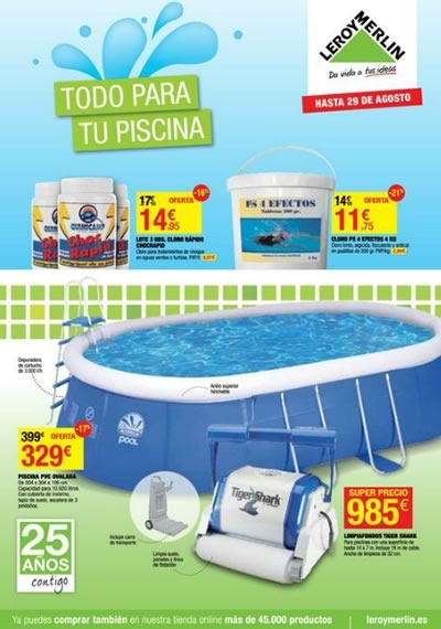 Leroy merlin cat logo de piscinas y accesorios 2014 for Oferta piscinas bricomart
