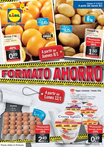 lidl folleto ofertas semanales 8 a 14 enero 2015 espana
