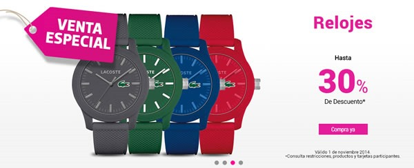 liverpool venta especial 1 noviembre 2014 - relojes