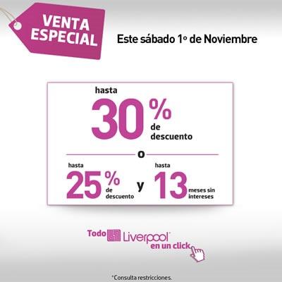 liverpool venta especial 1 noviembre 2014