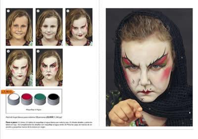 maquillaje de halloween profesional tutoriales paso a paso party fiesta 2013 2