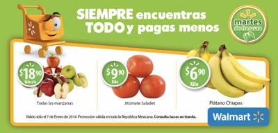 martes de frescura walmart 2014 ofertas 7 enero frutas
