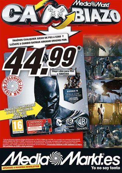 media markt cambiazo batman arkham origins octubre 2013 espana