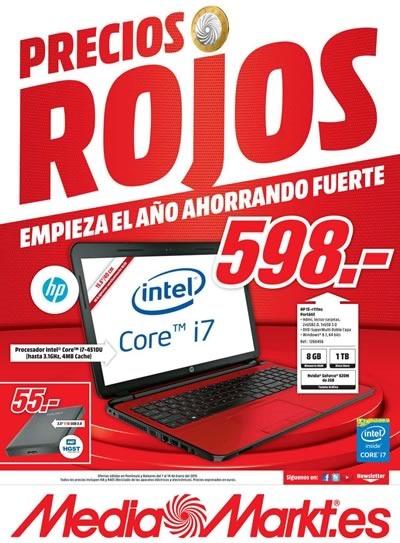 media markt ofertas precios rojos vigente 14 enero 2015 espana
