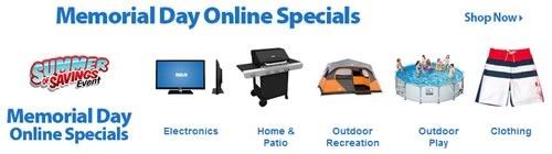 memorial day online specials walmart 2014