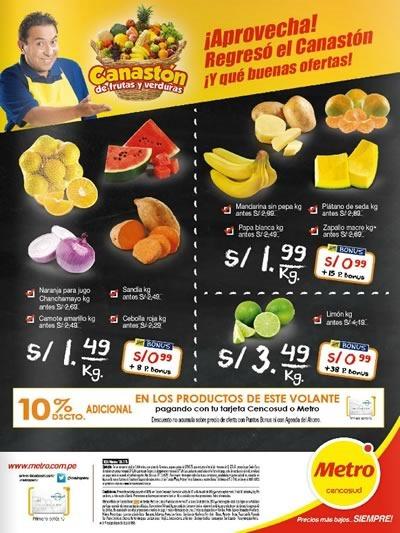 metro canaston de frutas y verduras abril 2016