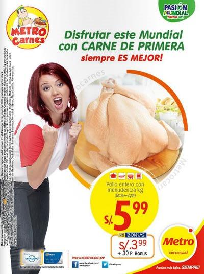metro catalogo carnes junio 2014