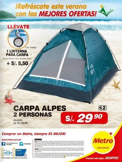 metro ofertas articulos campamento enero 2015 peru